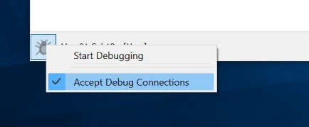 Accept Debug Connections